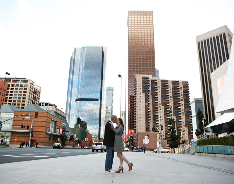 Paulo and Tessa Disney Concert Hall Engagement Photography Session