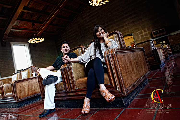 Jhay-R and Vanessa - Engagement Photographer Union Station Los Angeles CA