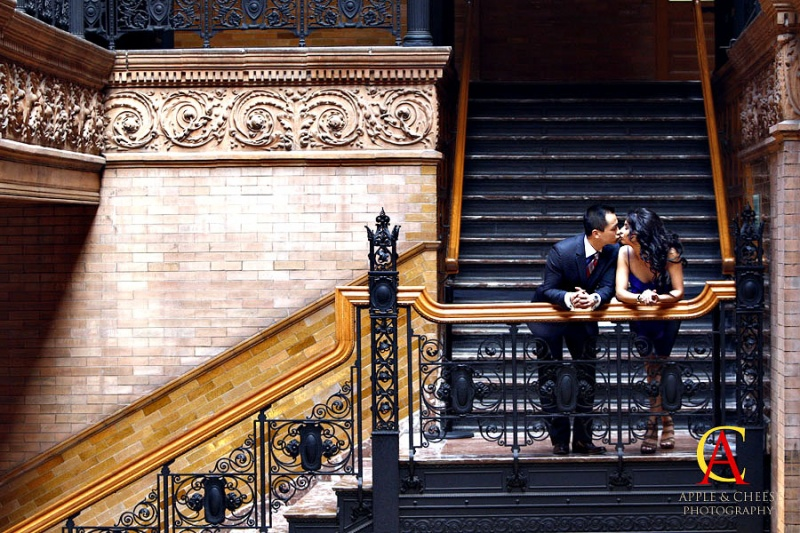 Abigail and James Engagement Photography Session Bradbury Building Los Angeles CA